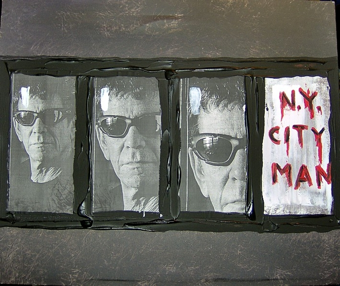"Painting ""Lou Reed B4"" Unique work - SOLDpiece"