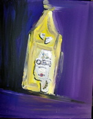 "Painting ""Bottle of Martini B32"" Unique work piece"