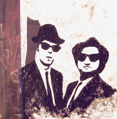 "Ritratto ""The Blues Brothers"" Opera unica"