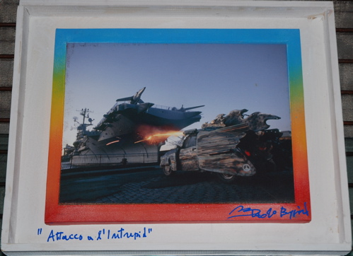 "Paolo Buggiani - ""Attack the Intrepid""  - 24x30"